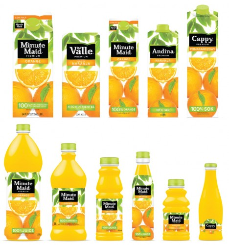 Minute Maid orange juice lineup