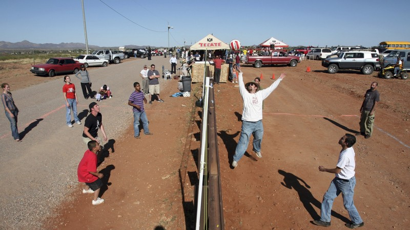 Border Fence Volleyball