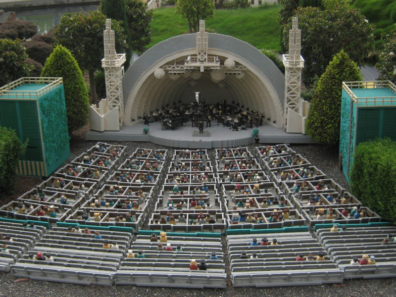 Hollywood bowl seating chart view for Terrace 6 hollywood bowl
